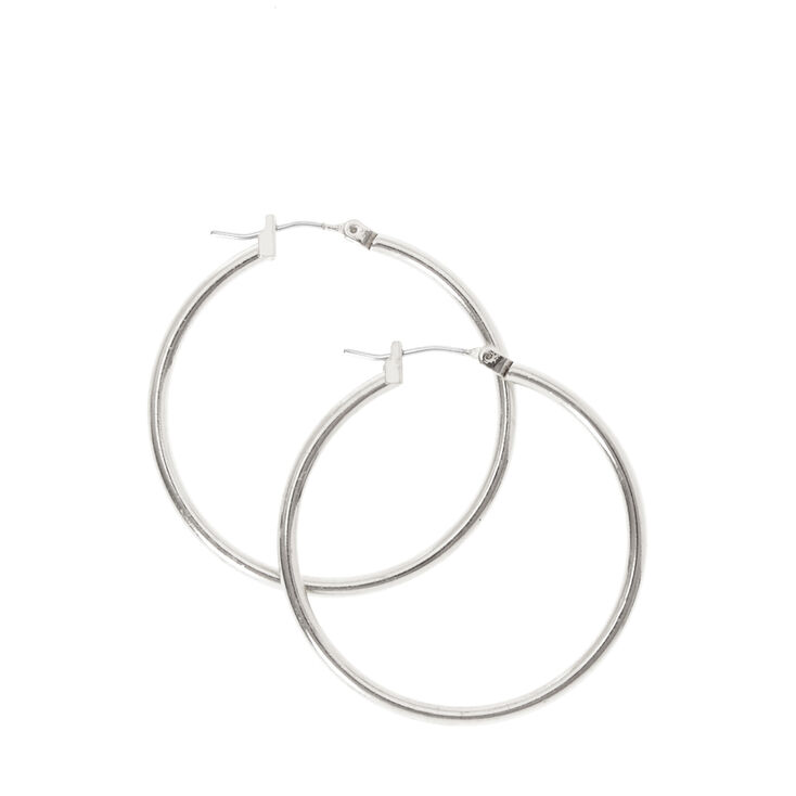 Small Smooth Silver Hoop Earrings at Icing in Victor, NY | Tuggl