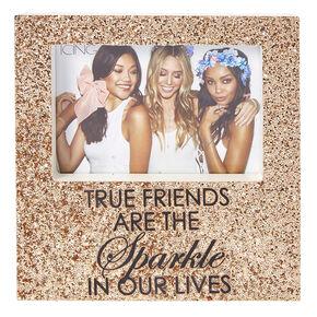 Rose Gold Glitter True Friends Photo Frame,