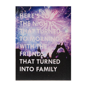 Friends into Family Wall Canvas,