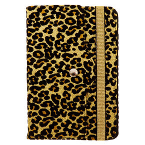 "8"" Gold Glitter Leopard Universal Tablet Folio Case,"