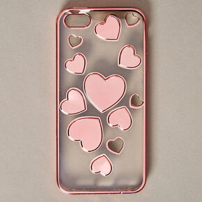 Rose Gold-Tone Heart Phone Case,