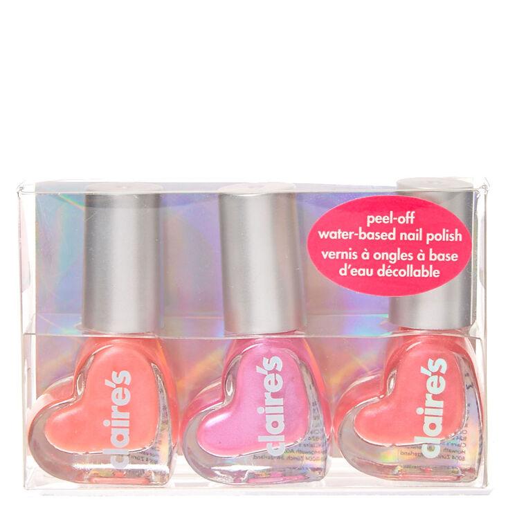 Pink Heart Water Based Nail Polish Set