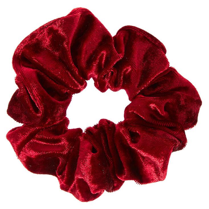 Burgundy Velvet Hair Scrunchie,