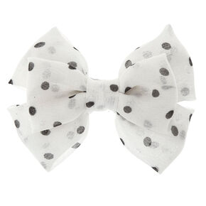 Polka Dot Floppy Bow Hair Clip,