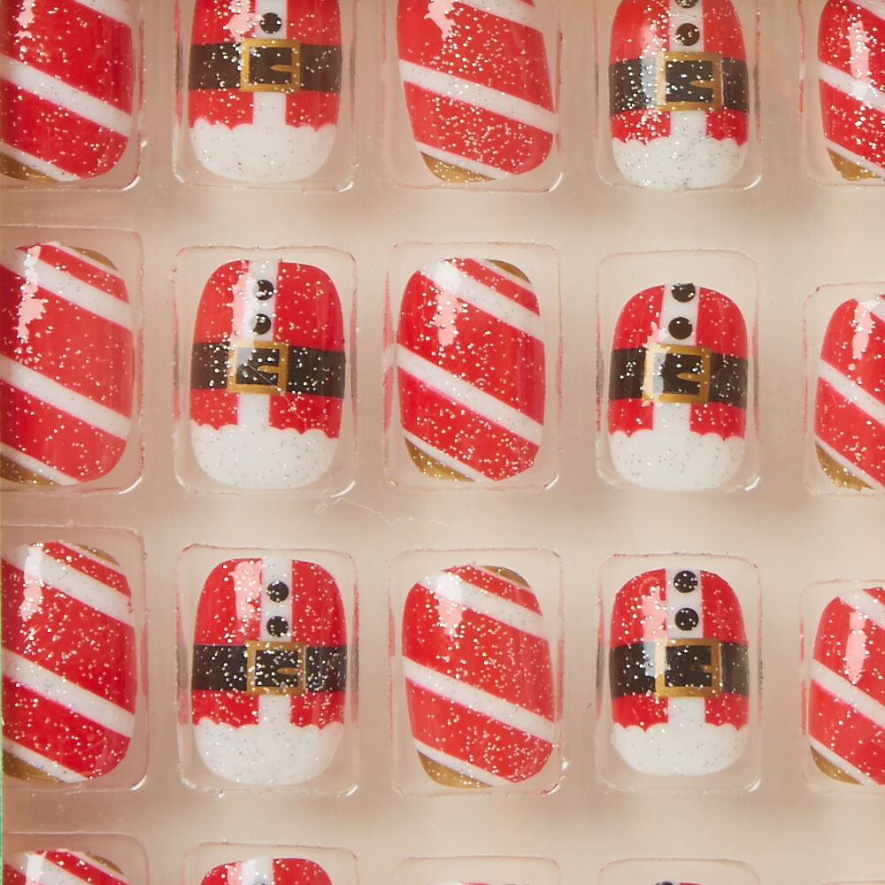 santa claus false nails