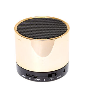 Gold Mini Bluetooth Speaker,