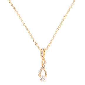 Wedding necklaces icing us gold tone cubic zirconia twisted pendant necklace junglespirit Image collections