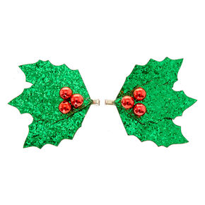 Holly Mistletoe Hair Barrettes,