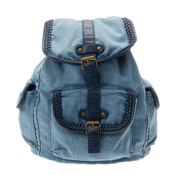 bag backpack denim nirvana hipster patch blue rock denim bag tie-dye backpack with patches of bands jeans bookbag denim backpack i'm really looking for it canvas backpack acid wash Bedazzled ballcaps, safety pin bracelets, bagel bites and Dunkaroos.