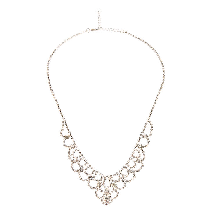 Scalloped Crystal Necklace,