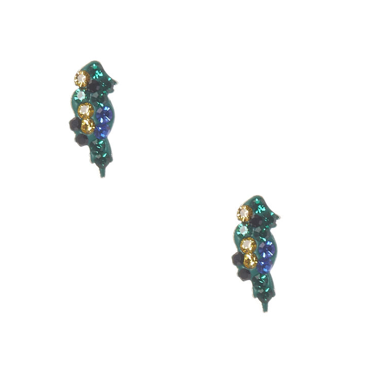 Sterling Silver Perry Parrot Studs,