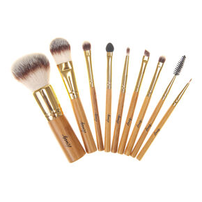 Bamboo Roll Up Makeup Brush Kit,
