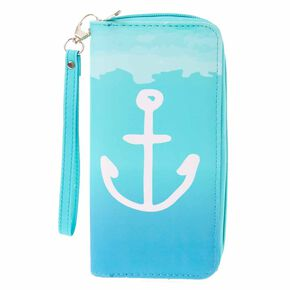Mint Anchor Wristlet,