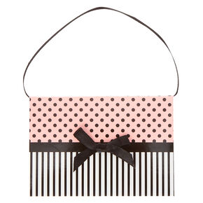 Pink Polka Dots and Stripes Gift Card Envelope,