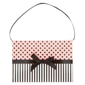 Pink Polka Dots and Stripes Gift Card Envelope,