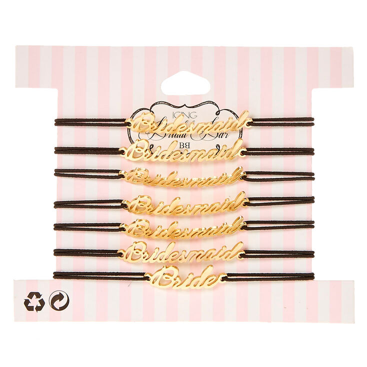7 Pack Bridesmaid and Bride Bracelet Set,
