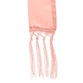 Skinny Pink Silk Scarf,