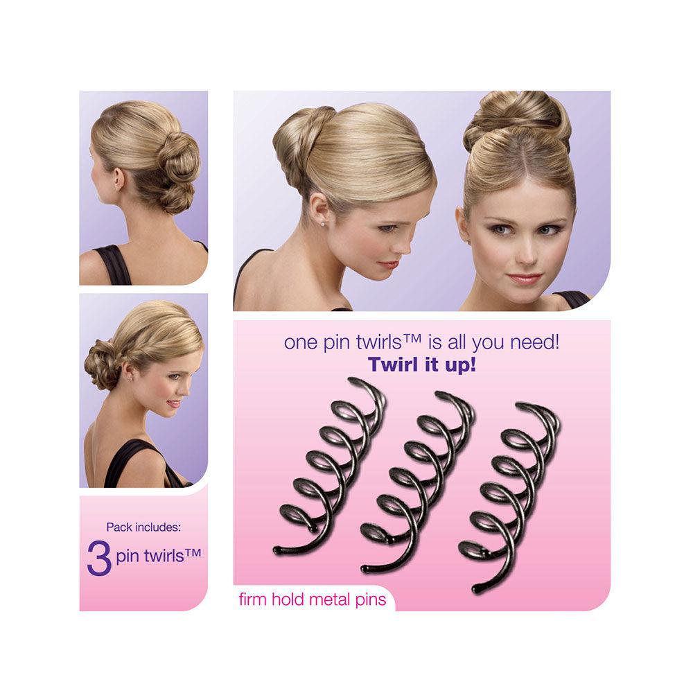 Accessoire marron pour torsades dans les cheveux Scunci,