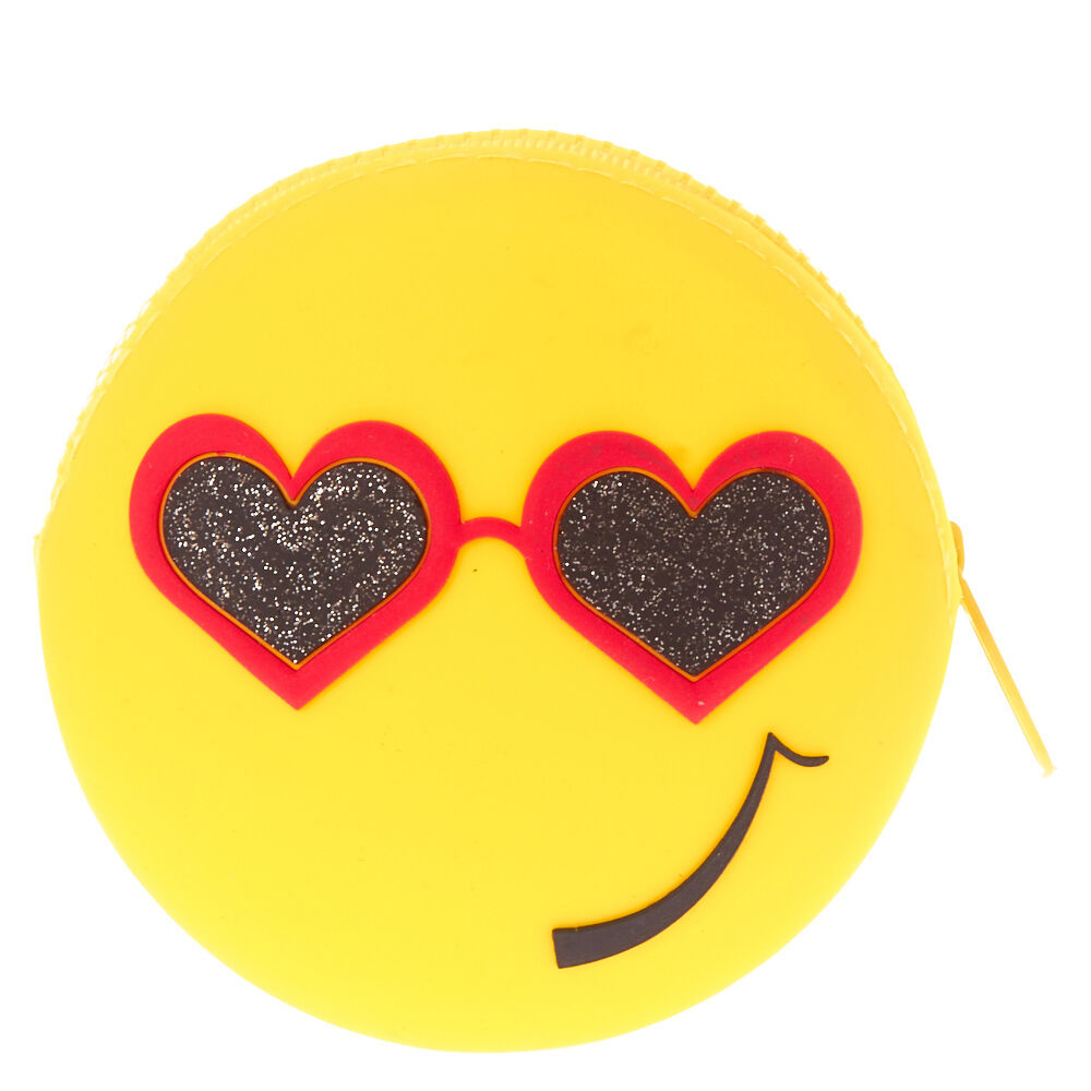 Heart Emoji Reversible Coin Pouch | Claire's CA