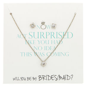 Crystal Bridesmaids Jewelry Set,