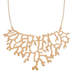 Gold Coral Reef Necklace,