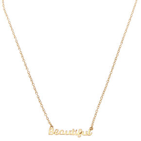 Beautiful Script Necklace,