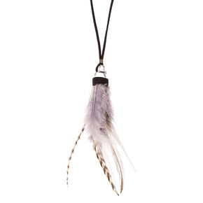 Feather Crystal Pendant Necklace,