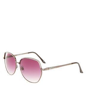 Modern Round Glitter Sunglasses,