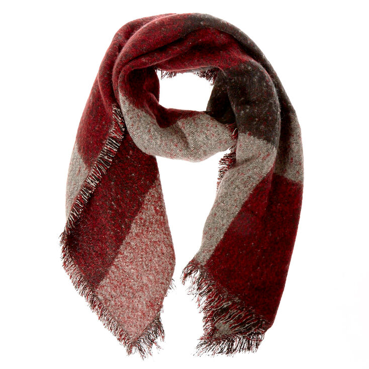 Red + Black Blanket Scarf,