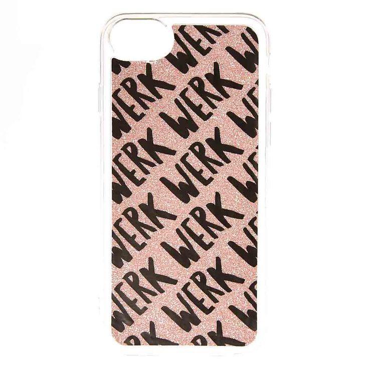 Rose Gold Glitter Werk Phone Case,