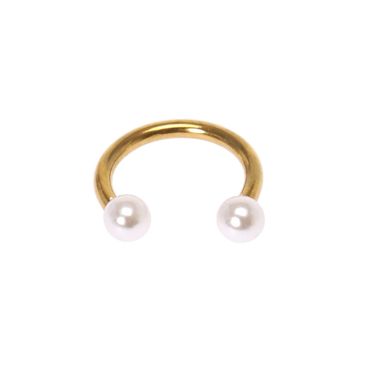 Pearl Horseshoe Septum Ring,