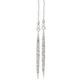 Silver-Tone Long Necklace,