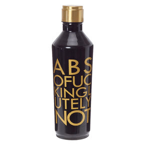 Absofuckinglutelynot Black and Gold Water Bottle,