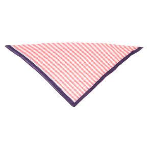 Pink & White Stripe Bandana Headwrap,