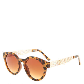 Tortoise and Gold Sunglasses,