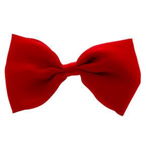 Red Satin Bow Hair Clip,