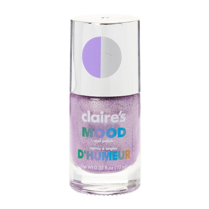 Glitter Purple Mood Nail Polish Claire S Us