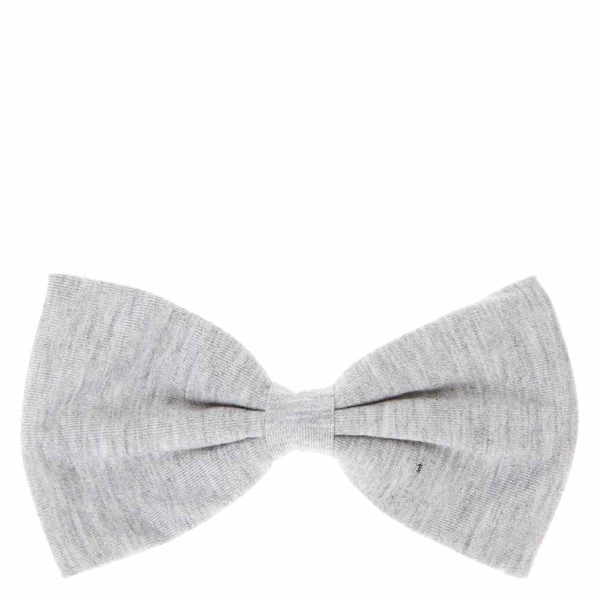 Black bow hair accessories - Gray Jersey Bow Hair Clip