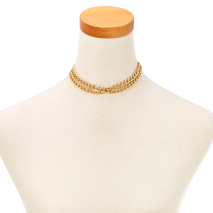 Gold Double Chain Choker at Icing in Victor, NY | Tuggl