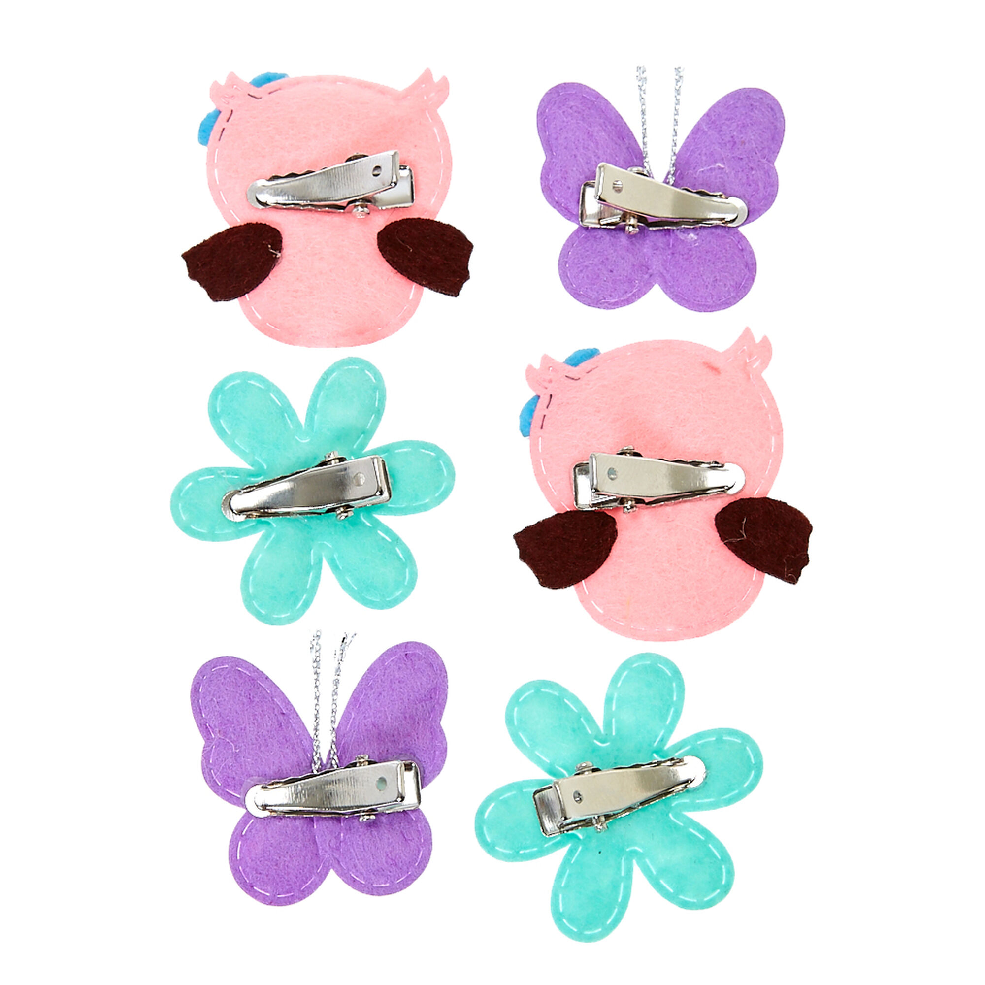 kids flower butterfly owl fabric hair clips claire u0027s us