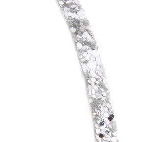 Skinny Silver Glitter Headband,