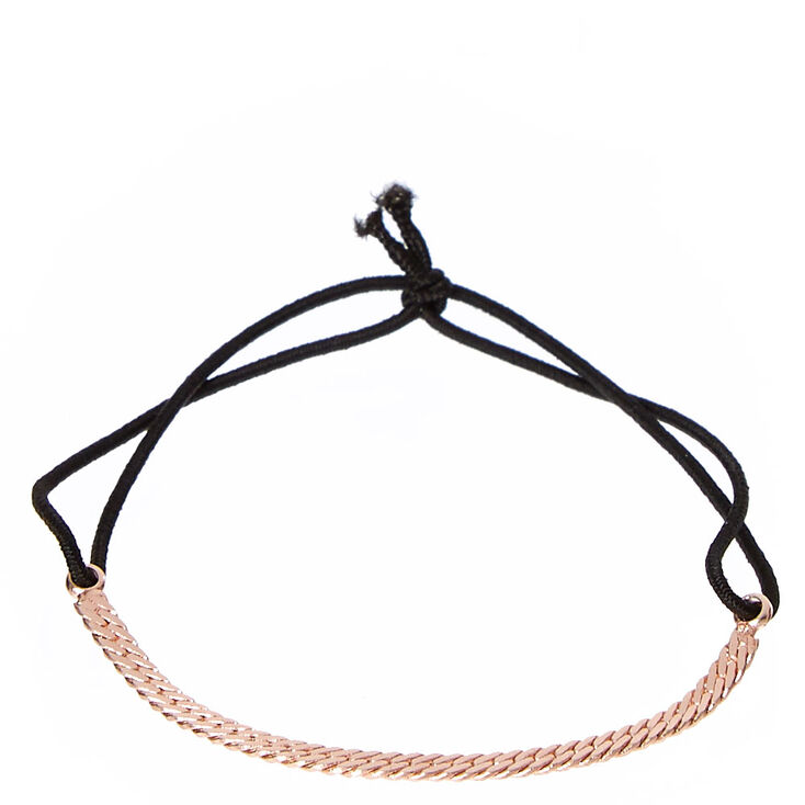 Rose Gold Chain with Black Cord,