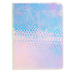 "10"" Pink Holographic Snake Skin Universal Tablet Folio Case,"