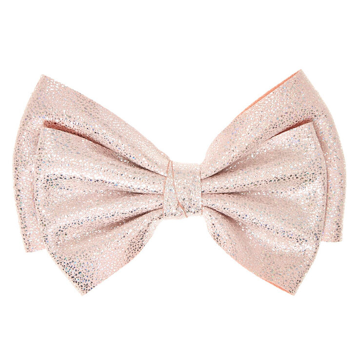 Soft Pink Glitter Hair Bow Clip Claire S Ca