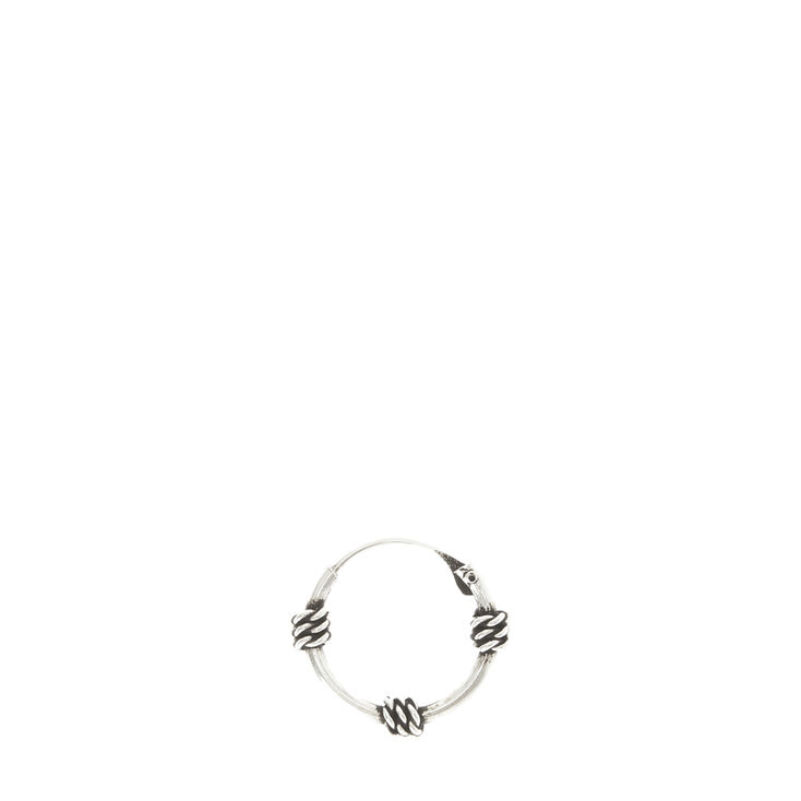 Sterling Silver Nose Hoop with Beads,