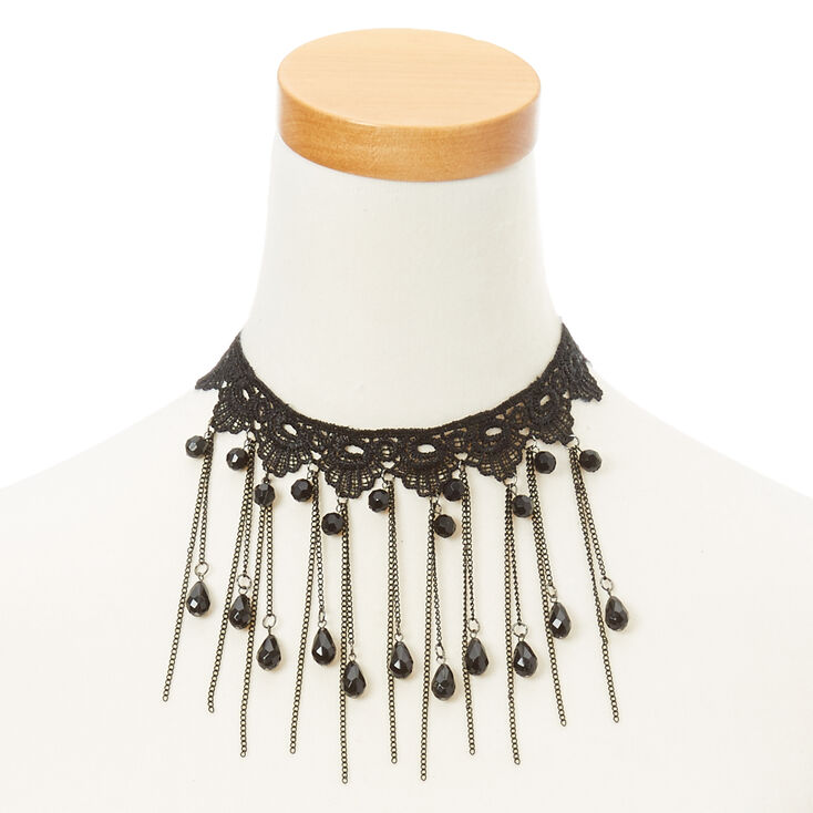 Goth Beaded Lace Choker at Icing in Victor, NY | Tuggl