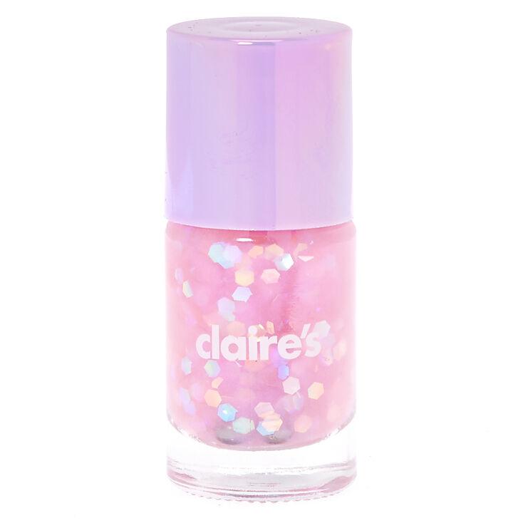Purple Pastel Glitter Nail Polish