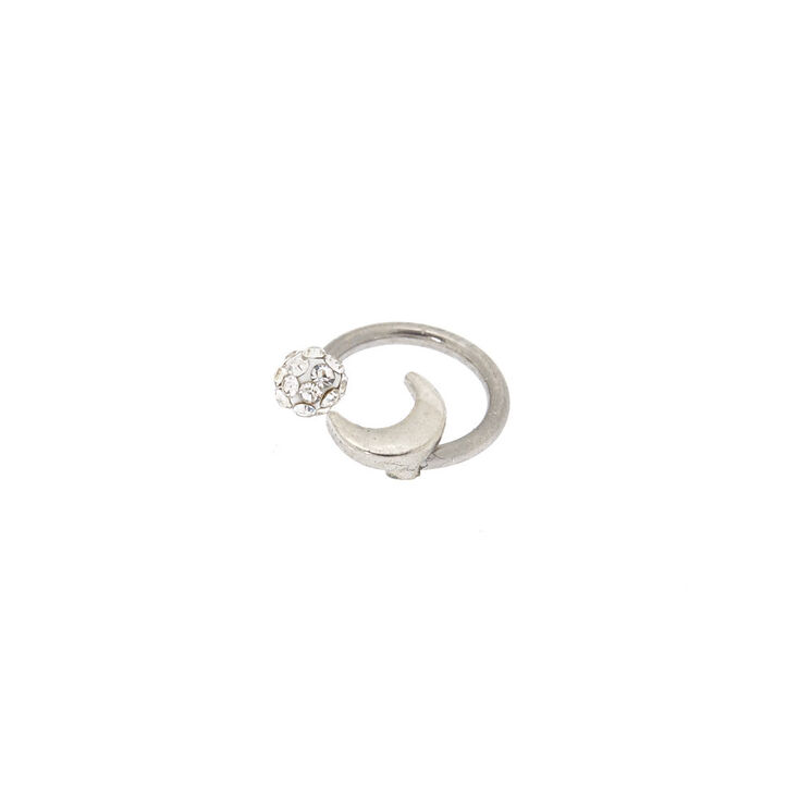 Moon & Fireball Horseshoe Cartilage Earring,