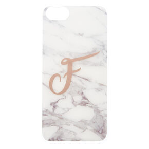 Marbled F Initial Phone Case,