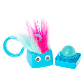 Turquoise Blueberry Flavored Lip Balm Cube Push Clip,